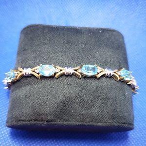 Jewelry - 14k Aquamarine Gold & White Gold Bracelet